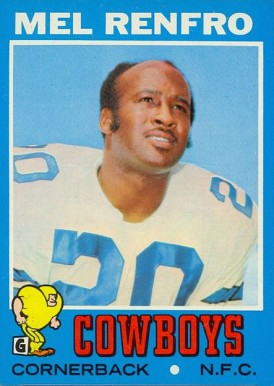 1971 Topps Mel Renfro #118 Football Card