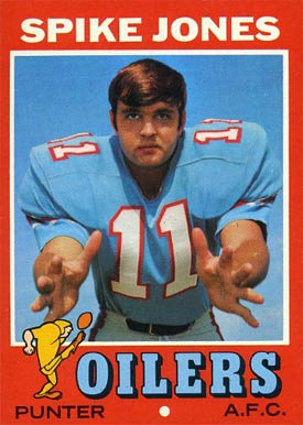 1971 Topps Spike Jones #64 Football Card