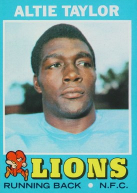 1971 Topps Altie Taylor #62 Football Card