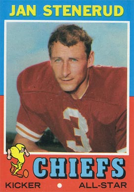 1971 Topps Jan Stenerud #61 Football Card