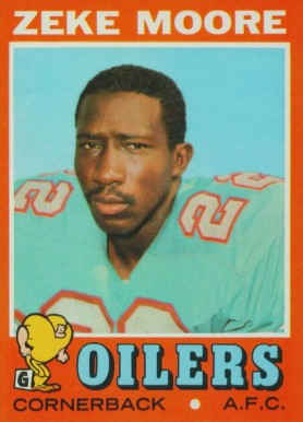 1971 Topps Zeke Moore #43 Football Card