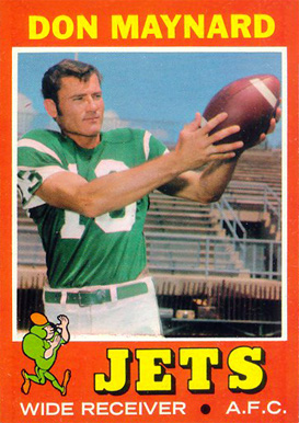 1971 Topps Don Maynard #19 Football Card