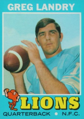 1971 Topps Greg Landry #11 Football Card