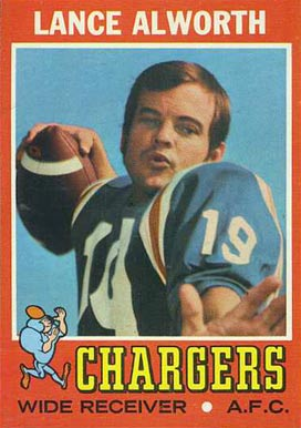 1971 Topps Lance Alworth #10 Football Card