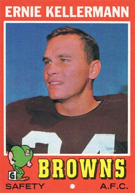 1971 Topps Ernie Kellerman #7 Football Card