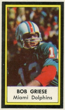 1971 Dell Bob Griese #19 Football Card