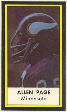 1971 Dell Alan Page #37 Football Card