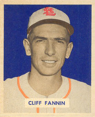 1949 Bowman Cliff Fannin #120 Baseball Card
