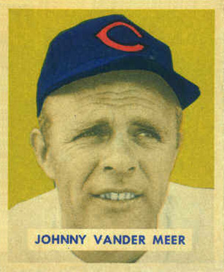 1949 Bowman Johnny Vander Meer #128 Baseball Card