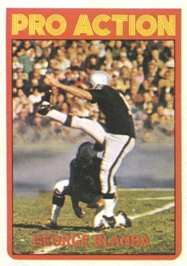1972 Topps George Blanda #348 Football Card