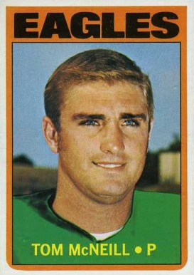 Tom McNeill 1972 Topps Tom McNeill 314 Football Card Value Price Guide