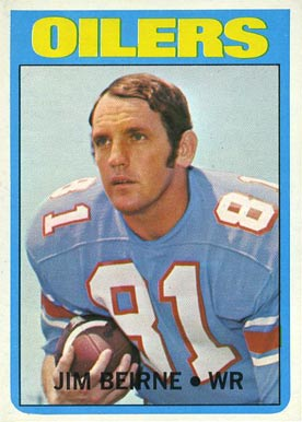 1972 Topps Jim Beirne #313 Football Card
