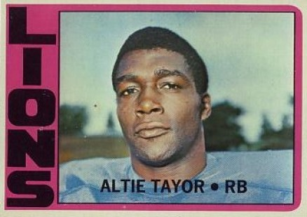 1972 Topps Altie Tayor #199 Football Card