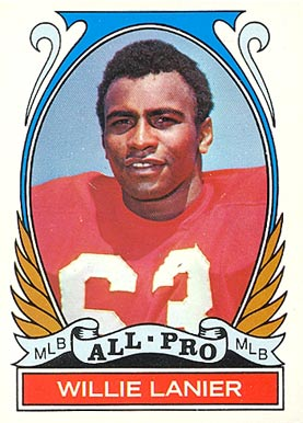 1972 Topps Willie Lanier #283 Football Card