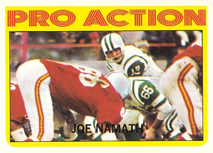 1972 Topps Joe Namath #343 Football Card