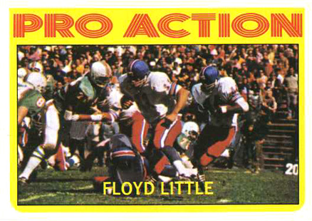 1972 Topps Floyd Little #339 Football Card
