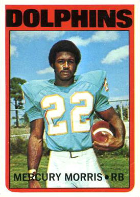 1972 Topps Mercury Morris #331 Football Card
