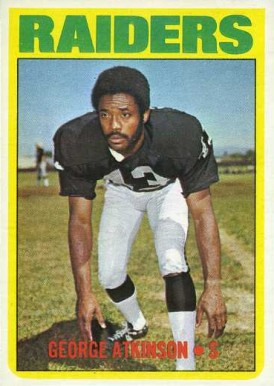 1972 Topps George Atkinson #323 Football Card