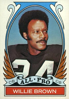 1972 Topps Willie Brown #285 Football Card