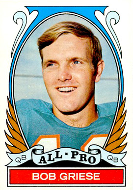1972 Topps Bob Griese #272 Football Card