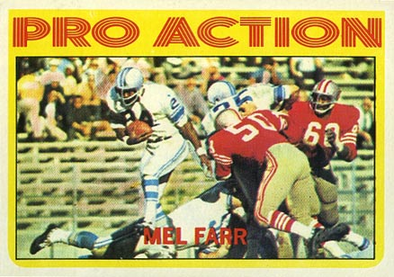 1972 Topps Mel Farr #250 Football Card