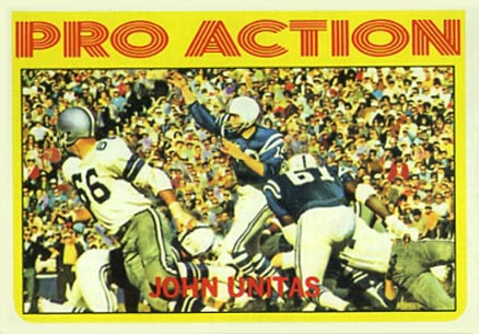 1972 Topps Johnny Unitas #251 Football Card