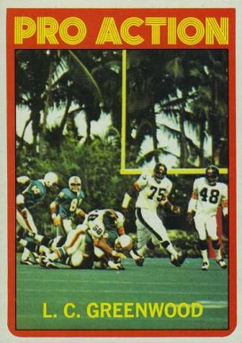1972 Topps L.C. Greenwood #257 Football Card