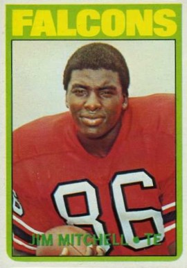 1972 Topps Jim Mitchell #227 Football Card