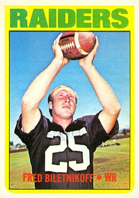 1972 Topps Fred Biletnikoff #210 Football Card