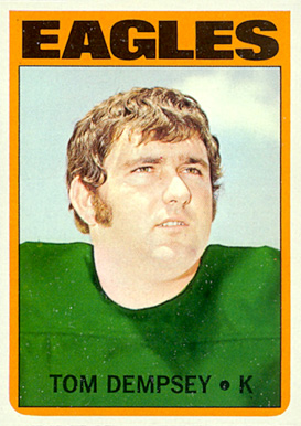 1972 Topps Tom Dempsey #175 Football Card