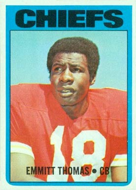 1972 Topps Emmitt Thomas #157 Football Card