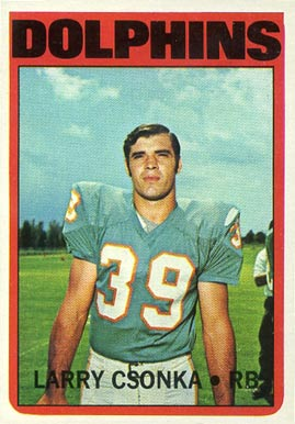 1972 Topps Larry Csonka #140 Football Card