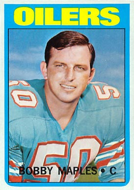1972 Topps Bobby Maples #52 Football Card