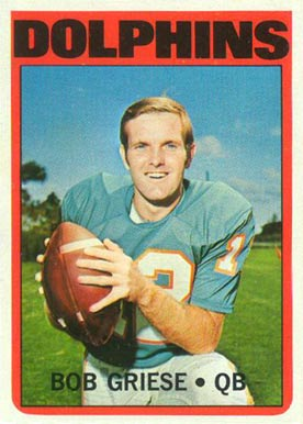 1972 Topps Bob Griese #80 Football Card