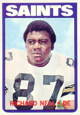 1972 Topps Richard Neal #87 Football Card