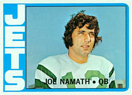 1972 Topps Joe Namath #100 Football Card