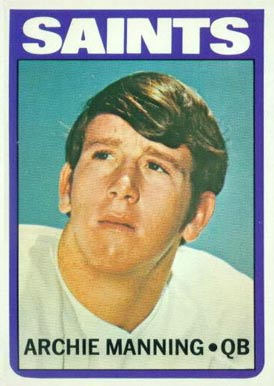 1972 Topps Archie Manning #55 Football Card