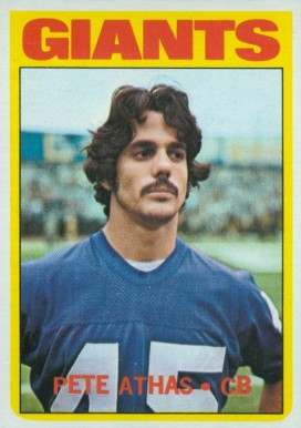 1972 Topps Pete Athas #48 Football Card