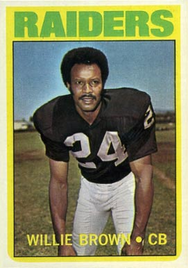 1972 Topps Willie Brown #28 Football Card