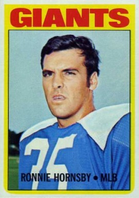 1972 Topps Ron Hornsby #16 Football Card