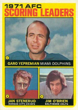 1972 Topps Garo Yepremian #7 Football Card