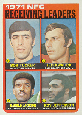 1972 Topps NFC Receiving Leaders #6 Football Card