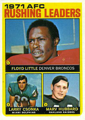 1972 Topps Floyd Little #1 Football Card