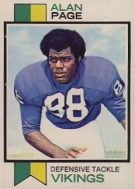 1973 Topps Alan Page #30 Football Card