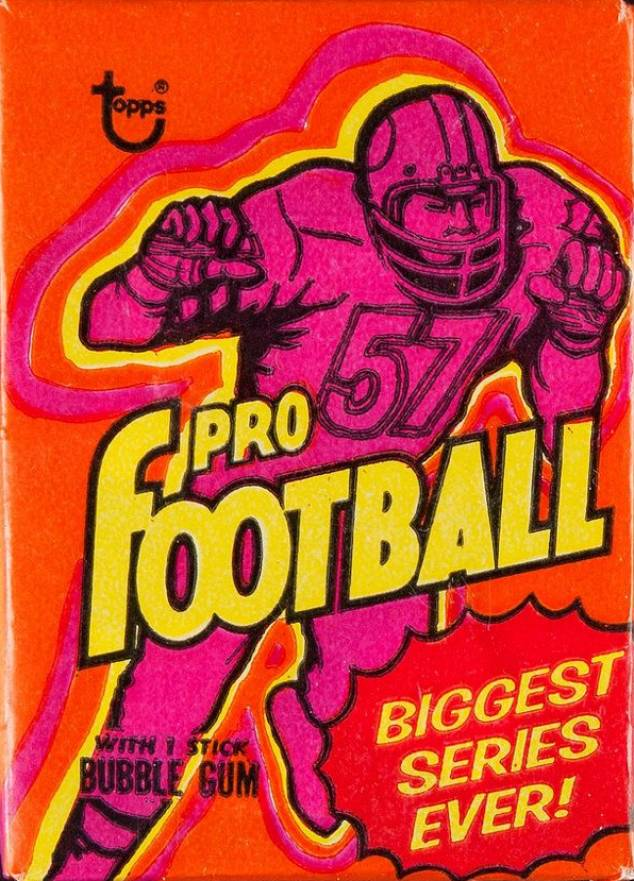 1973 Topps Wax Pack #WP Football Card