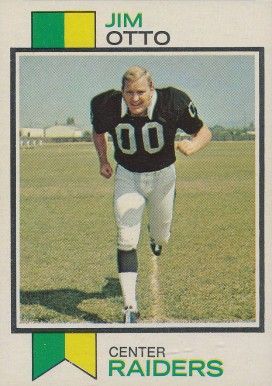 1973 Topps Jim Otto #461 Football Card