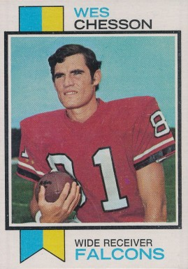 1973 Topps Wes Chesson #281 Football Card