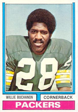 1974 Topps Willie Buchanon #292 Football Card