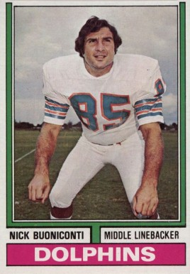 1974 Topps Nick Buoniconti #505 Football Card