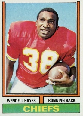 1974 Topps Wendell Hayes #244 Football Card
